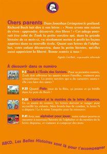 Sommaire Les Belles Histoires septembre 2013