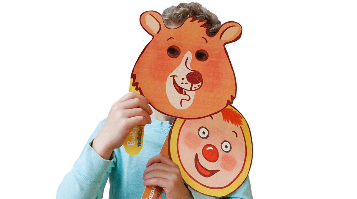 Fabriquez les masques de Cacahouète et Pouët-Pouët!