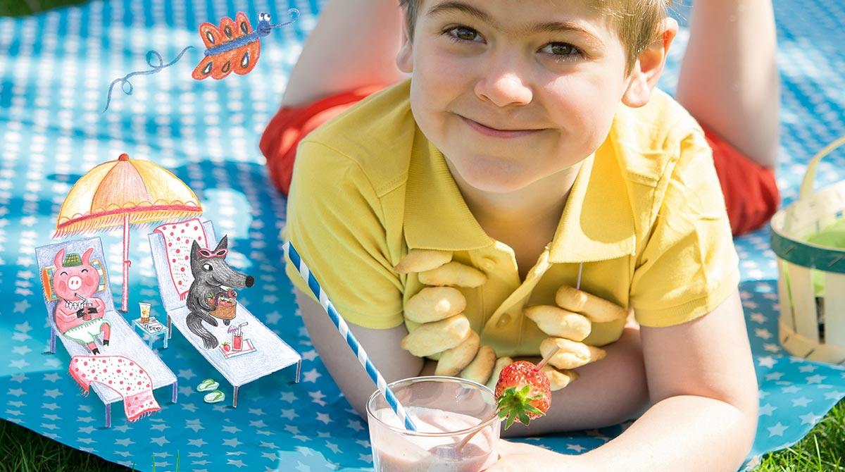 Recette pour les enfants:le goûter de l'été