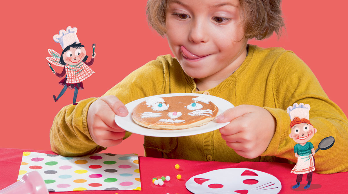 Recette facile de pancakes rigolos