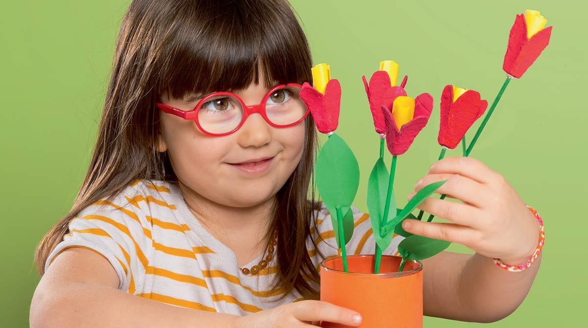 Bricolage fête des Mères:les fleurs à mots doux