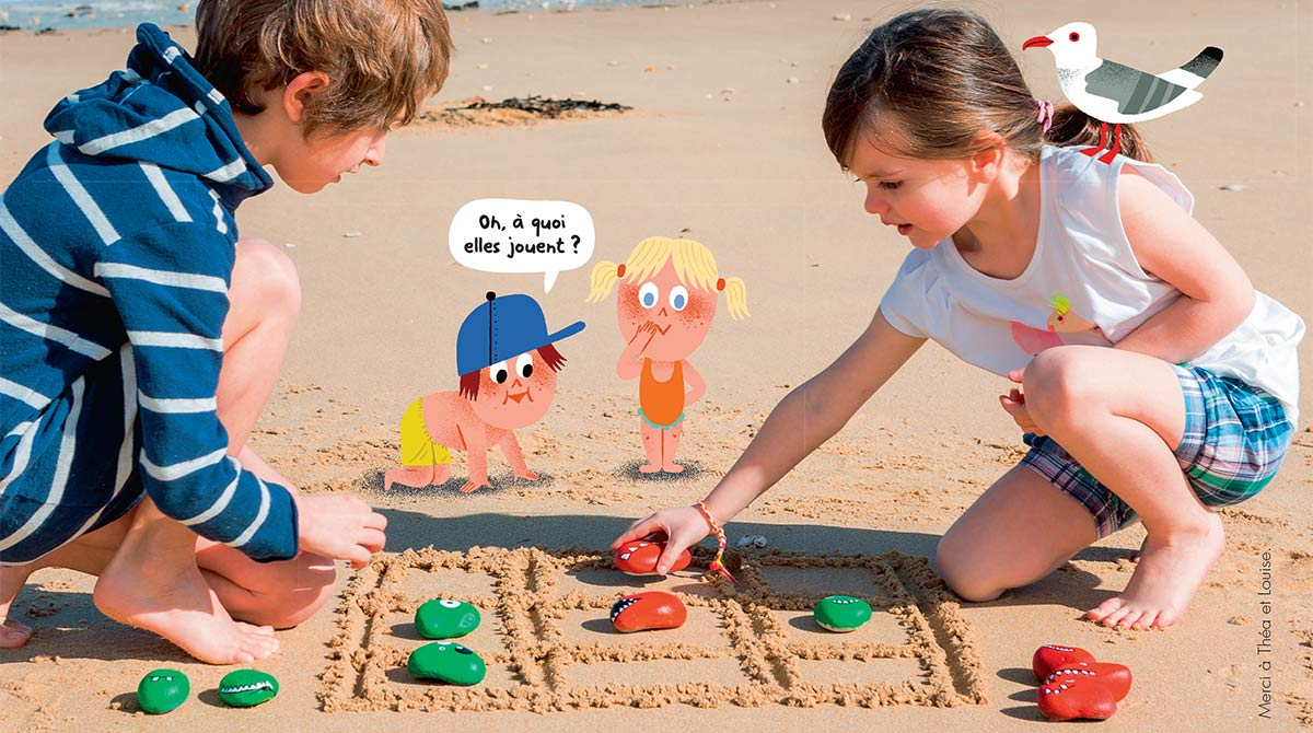 """Bricolage enfant:le jeu de plage """"1, 2, 3, gagné"""""""