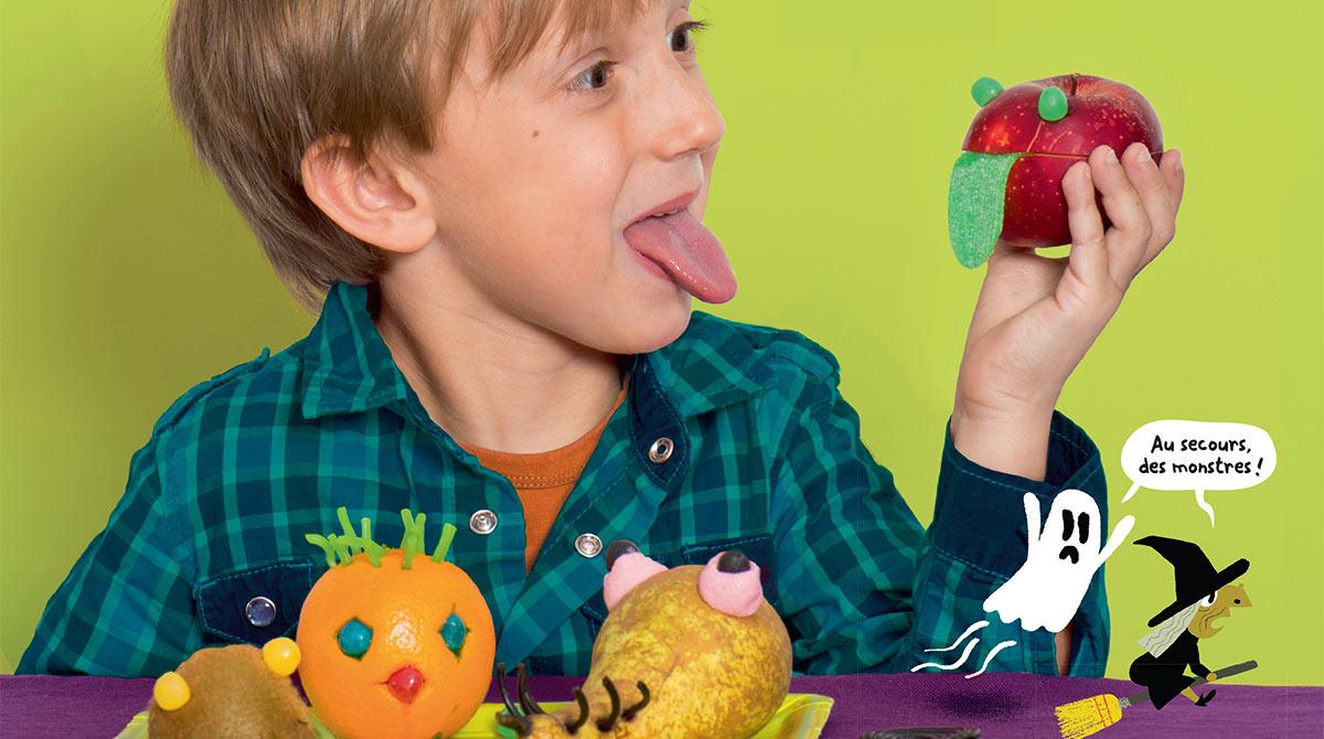Recette pour Halloween:les monstro-fruits