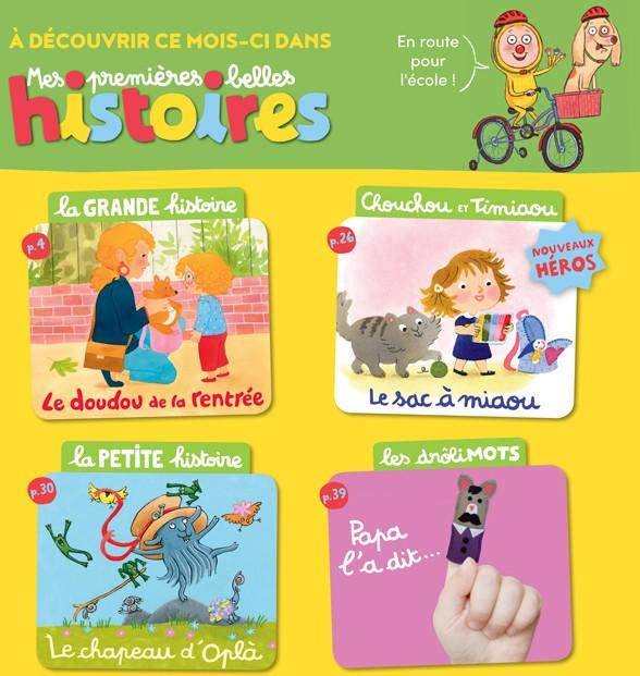 Sommaire de Mes premières Belles Histoires, n°226, septembre 2019