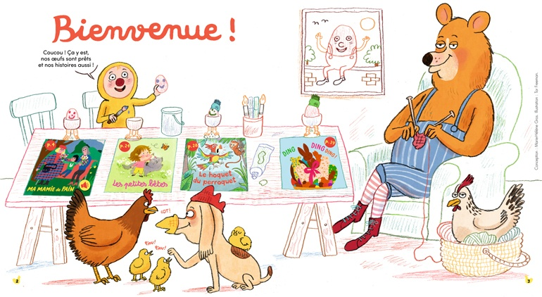 Bienvenue dans Mes premières Belles Histoires, n°233, avril 2020 - Illustration : Tor Freeman.