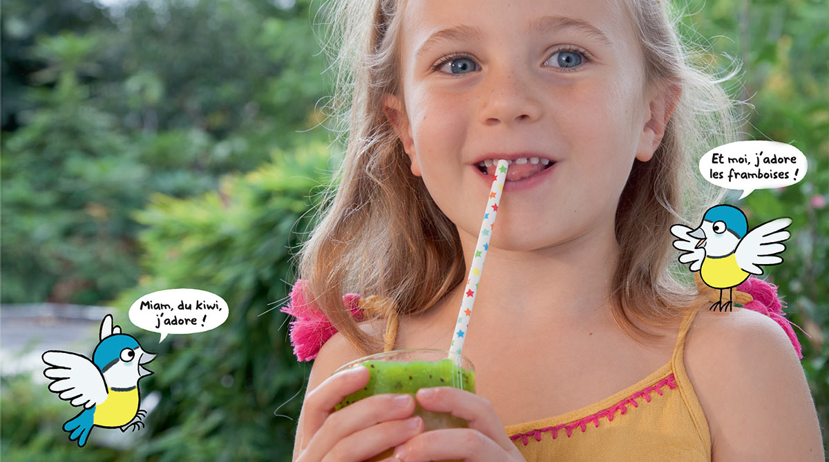 """""""La boisson fruitée complètement givrée !"""", Les Belles Histoires n° 571, juillet 2020. Recette : Anne Chiumino. Photo : Isabelle Franciosa."""