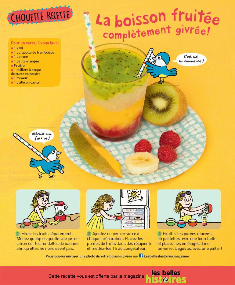 Recette: la boisson fruitée complètement givrée. Photos: Isabelle Franciosa. Illustrations: Isabelle Assémat.