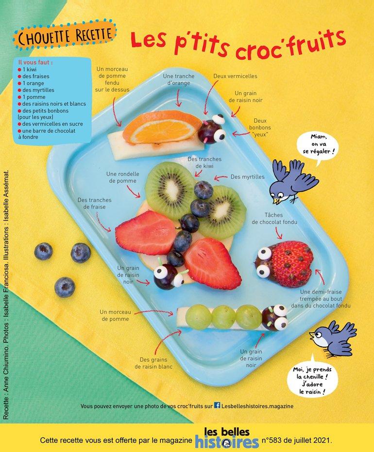 Recettes aux fruits pour les enfants : Anne Chiumino. Photos : Isabelle Franciosa. Illustrations : Isabelle Assémat.