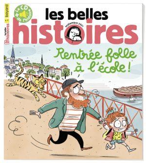 Couverture du magazine Les Belles Histoires n°585, septembre 2021.